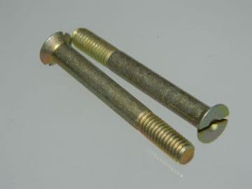 """10 x 2BA Screws Slotted Head Countersunk Length 1 9/16"""" Part AS1242-11C [P11]"""